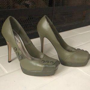 Army Green heels/ Shoedazzle